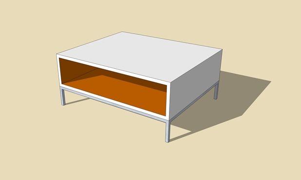 SketchUp Model coffee table 45 Nick Hindson