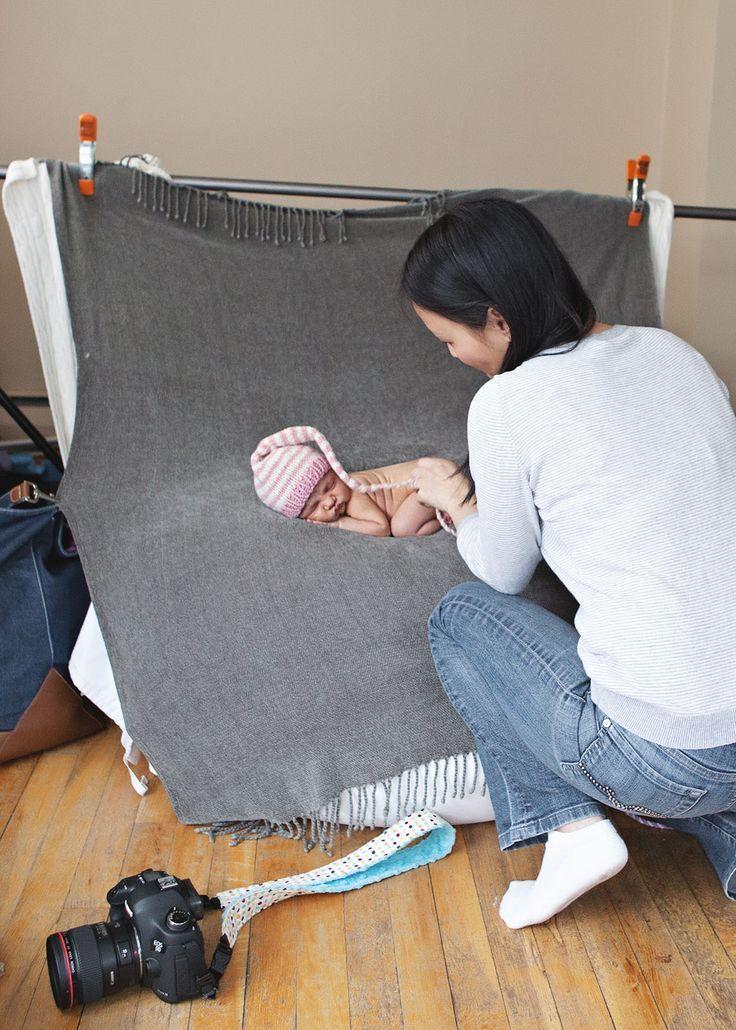 Neugeborene posieren: Hinter den Kulissen einer Fotosession für Neugeborene   – Iedvesmo…