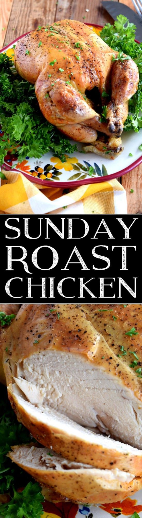 A slow-roasted chicken is a classic Sunday main, and when it comes to Sunday Roast Chicken, simple is best! No fuss, no mess; just home-style taste and a moist, deliciously seasoned whole chicken. A roasted chicken was a Sunday staple…