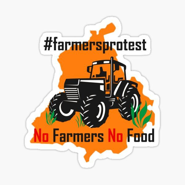 Kisan Support Farmers Sticker By Mooostickers In 2021 Supportive Sticker Design Transparent Stickers