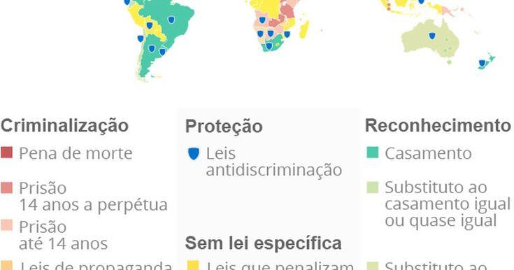Relação homossexual é crime em 73 países; 13 preveem pena de morte