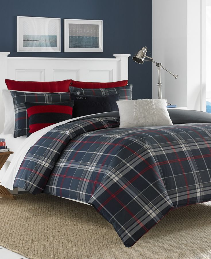 Nautica Booker Twin Duvet Set - Open Charc