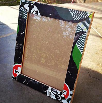 Skateboard Picture Frame the best products made with recycled skateboardspicture frame