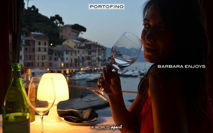 Portofino Barbara Enjoys the bay of Portofino