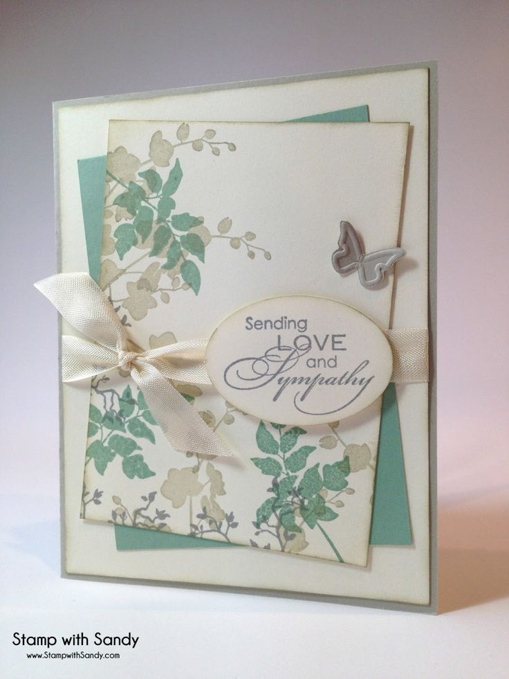 Sympathy card by Sandy