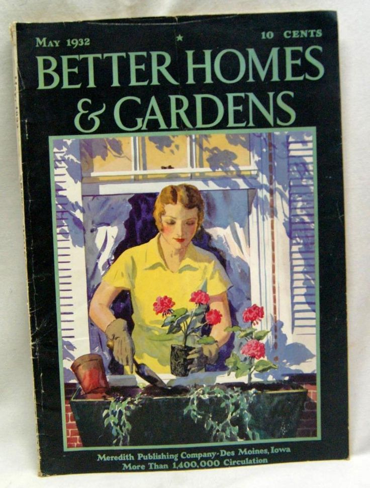 Better Homes Gardens Magazine May 1932 Vintage Home Decorating Gardening |  EBay
