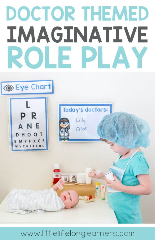 Doctor themed imaginative role play   Dramatic play printables for toddlers and preschoolers   Prep, Foundation, Kindergarten play printable posters  