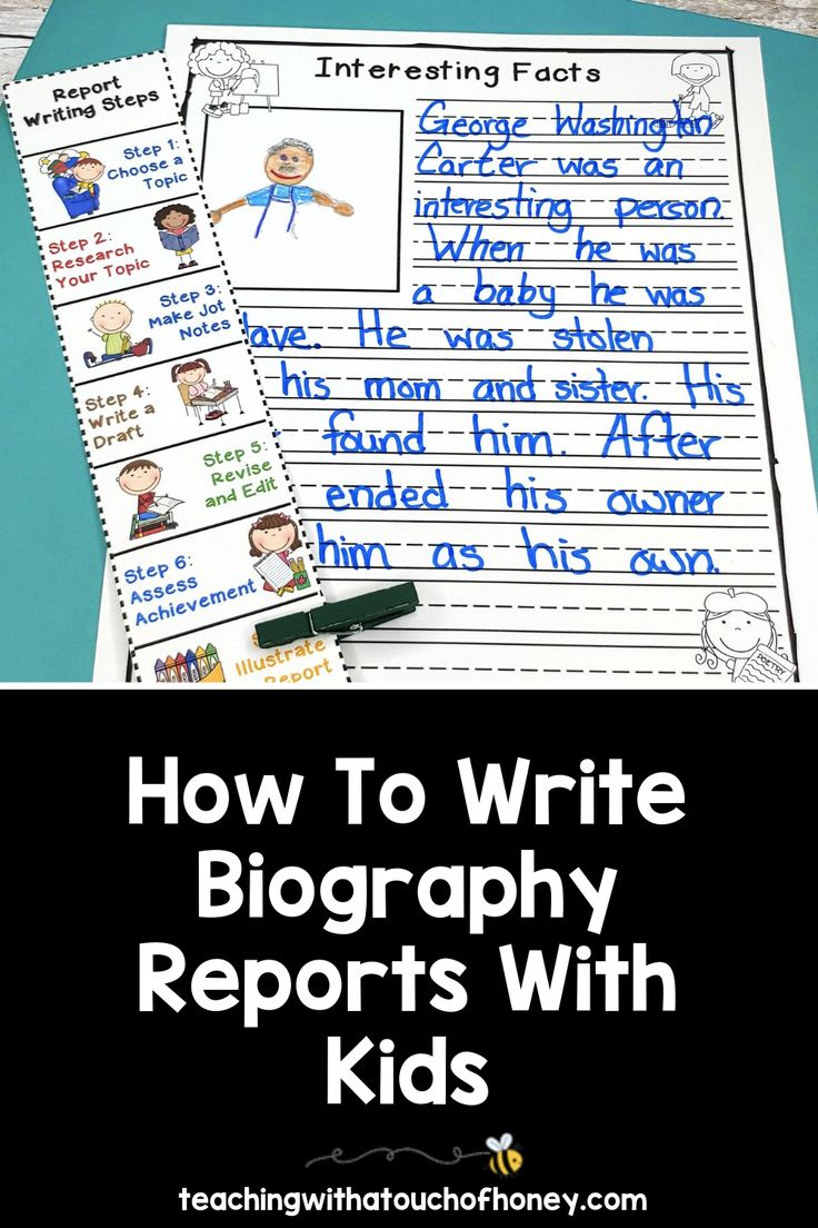 how to write biography reports with kids  informational