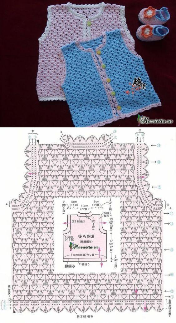 Espectacular ropa para bebes recién nacidos a crochet, podrás ...