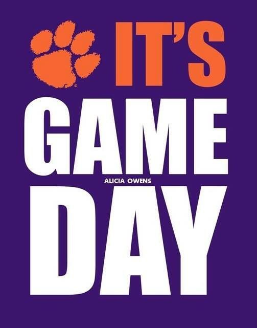 Go Tigers!!!  Clemson Tiger Football!!   Like my facebook page for exercise tips, support, and recipes.  https://www.facebook.com/letsbefit43/?ref=aymt_homepage_panel