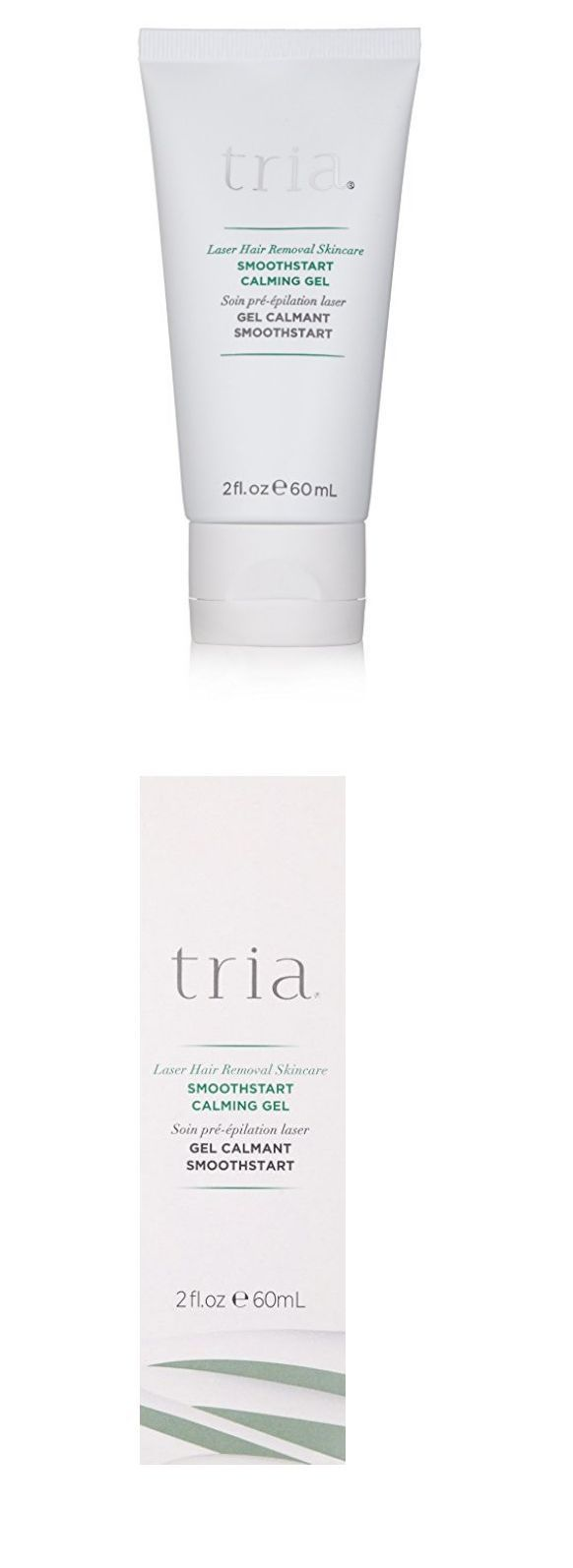 Hair Removal Creams and Sprays: Tria Laser Hair Removal Smoothing Calming Gel Smoothsmart New Beauty Sealed 2 Oz BUY IT NOW ONLY: $49.0
