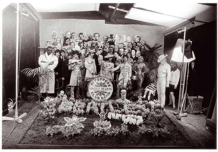 The making of the Beatles' Sgt. Pepper's Lonely Hearts Club Band album cover,