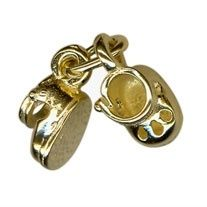 Charm - BABY BOOTIES - Sterling Silver or 9ct Gold