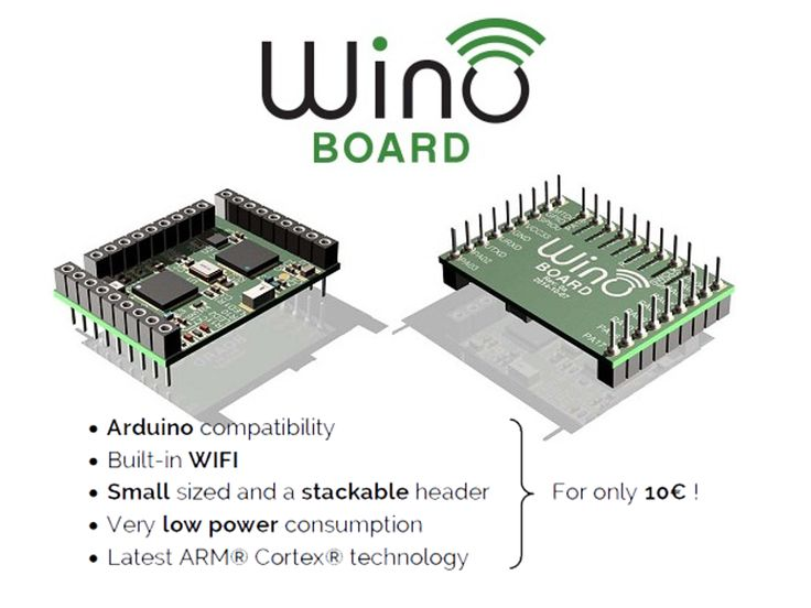 Wino is like an Arduino in a much smaller form factor with built-in Wi-Fi…