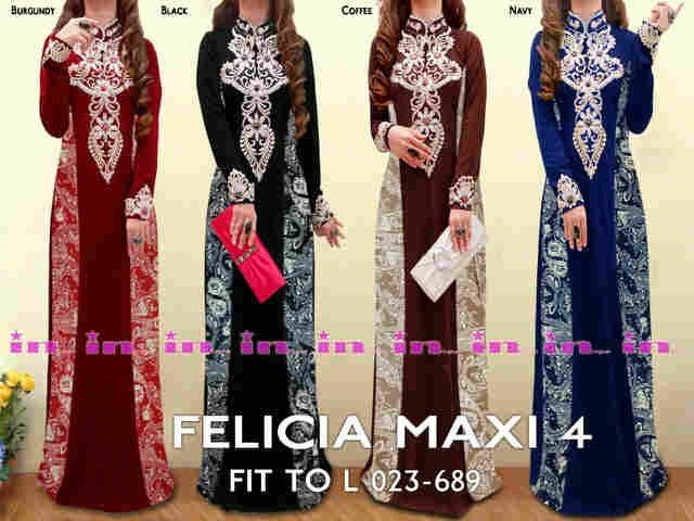 Kaftan maxi dress terbaru di