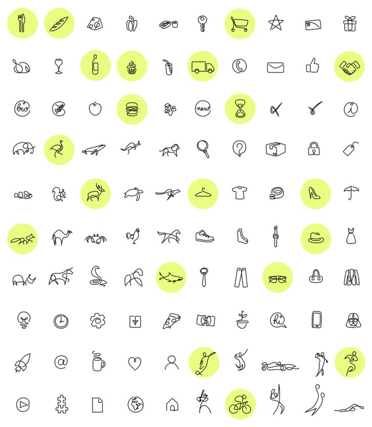 De superbes icônes minimalistes créées avec seulement un trait !