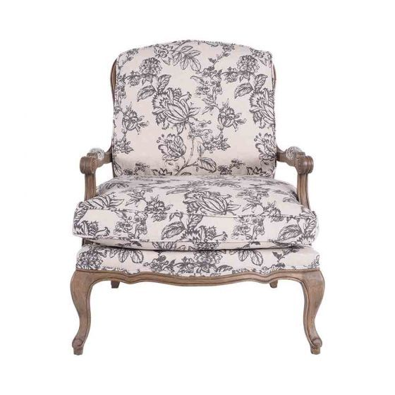 Beautiful Bugget Accent Chairs.Angelique Occasional Chair In Floral Living Occasional Chairs