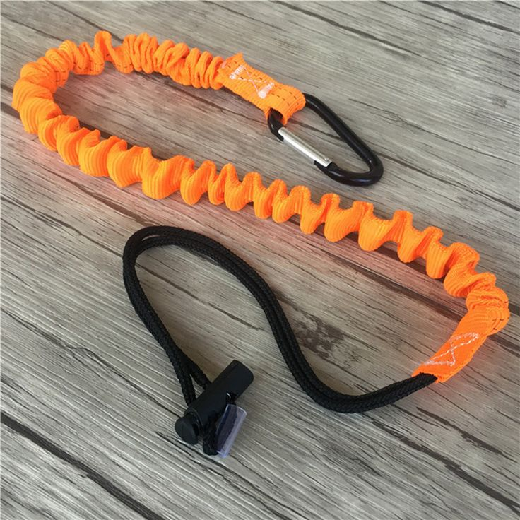 Outdoor Climbing Buckle Retractable Safety Rope Adjustable Sling Strap Nylon Elastic Rope Camping Single Carabiner Tool Lanyard #Affiliate