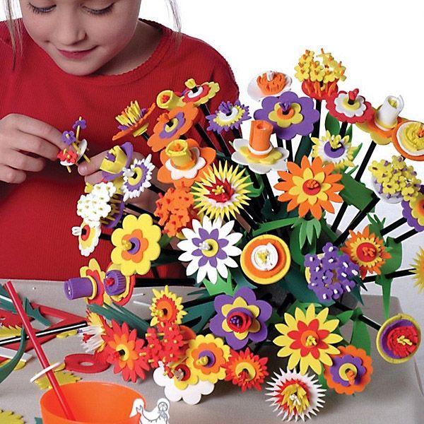 Zestaw do samodzielnego wykonania kwiatów z pianki i słomek - genialnie prosty i efektowny