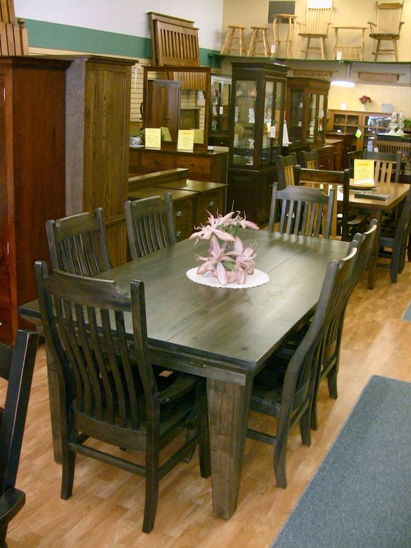 Wormy maple table, Mennonite handcrafted solid wood Wormy Maple table, Lloyd's Mennonite Furniture Bradford Ontario.