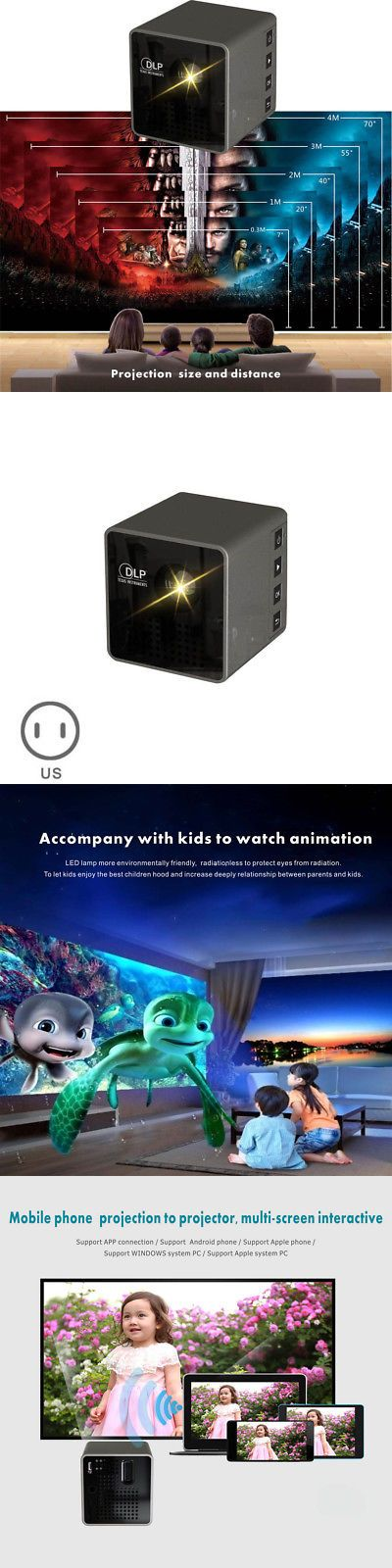 Home Theater Projectors: 1080P Mini Led Portable Wireless Pocket Wifi Dlp Multimedia Video Projector Home -> BUY IT NOW ONLY: $89.99 on eBay!