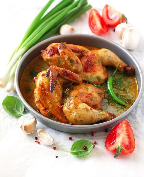 Курица запеченная в духовке с куркумой и паприкой