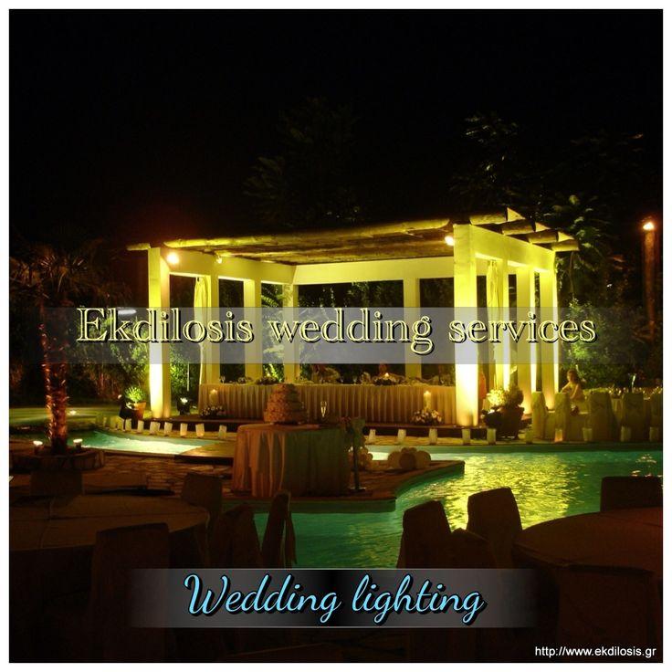 Η #EKDILOSISeventproduction ανταποκρίνεται στις σύγχρονες παρουσιάσεις των #γαμήλιωνεκδηλώσεων,με κατάλληλες προτάσεις #φωτισμού για να δημιουργήσετε έναν κομψό και ατμοσφαιρικό περιβάλλον για μικρές ή μεγάλες παραγωγές,σε κλειστό ή υπαίθριο χώρο,αναδεικνύοντας αποτελεσματικά το σύνολο της εκδήλωσης.