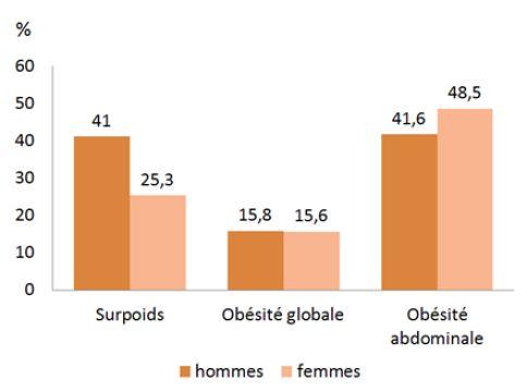 Selon une étude du programme de recherche Constances, piloté par l'Inserm et la Caisse nationale de l'assurance-maladie, près d'un Français sur deux de plus de 30 ans souffre d'un excès de poids. Et près de 16% des Français sont atteints d'obésité.