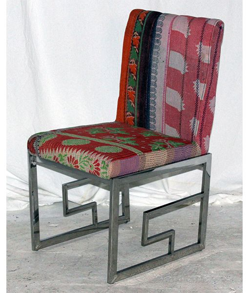 22 best images about kantha upholstery on pinterest for Funky fabric dining chairs