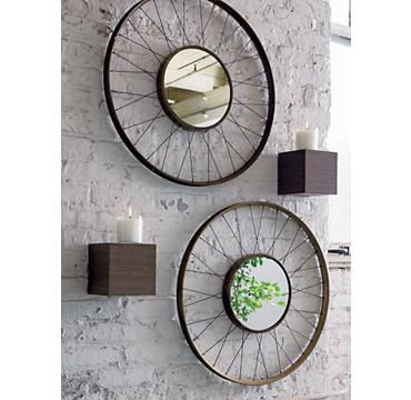 Spoke Mirror (a good hallway idea as they make the narrow space look wider)