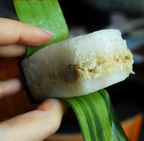 Indonesian Lemper sticky rice with chicken