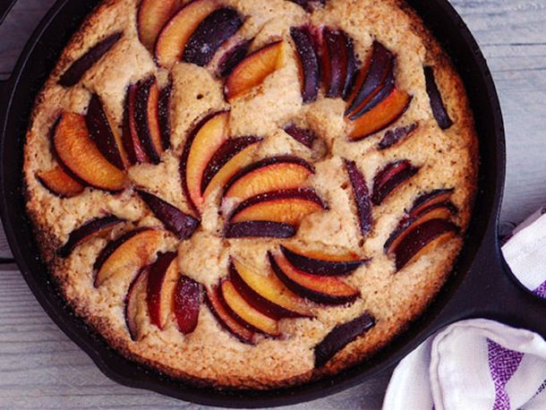 30-Minute Skillet Plum Cake | Sweets | Pinterest