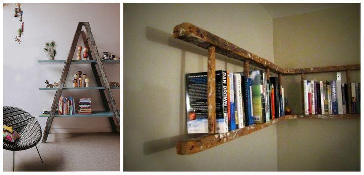 Máte žebřík na zahradě a štafle schované v komoře? Přeneste je do bytu a ozdobte jimi interiér! Klasické dřevěné žebříky se hodí do koupelny na ručníky, ale můžete je zavěsit nad stůl nebo z nich u...