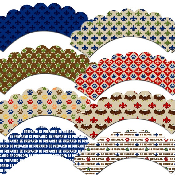 Eagle Scout Inspired Cupcake Wrappers by outsidetheboxdessert, $10.00