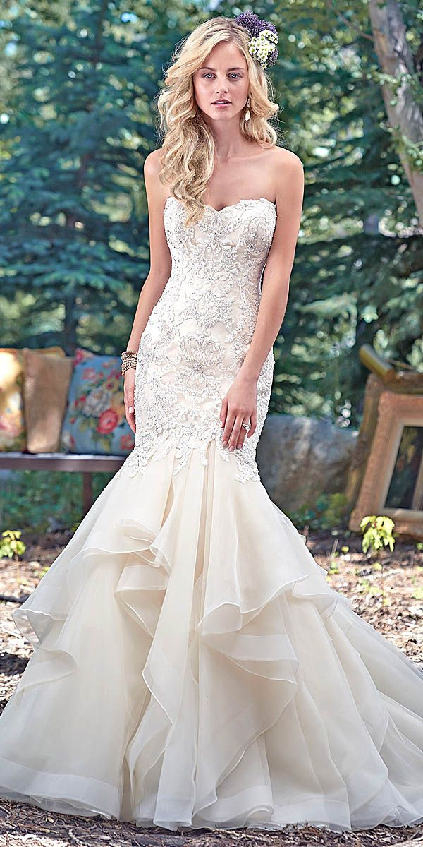 maggie sottero sweetheart mermaid wedding dress - Deer Pearl Flowers / http://www.deerpearlflowers.com/wedding-dress-inspiration/maggie-sottero-sweetheart-mermaid-wedding-dress/