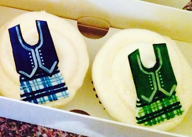 Highland dance cupcake toppers. How cute!