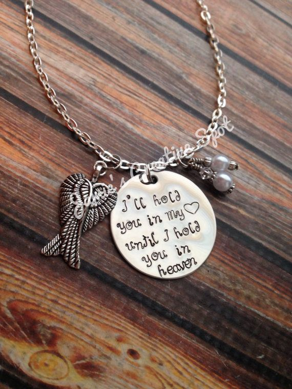 Hand Stamped In Memory Necklace by JamiesCreativeSpot on Etsy