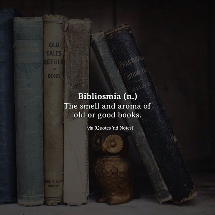 Bibliosmia (n.) The smell and aroma of old or good books. —via http://ift.tt/2eY7hg4