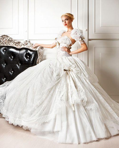 61 best Best bridal dresses 2014 images on Pinterest   Short wedding ...