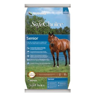Nutrena SafeChoice Senior Horse Feed, 50 lb.