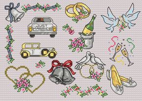 Image detail for -Maria Diaz Designs: Wedding III (Cross-stitch chart)