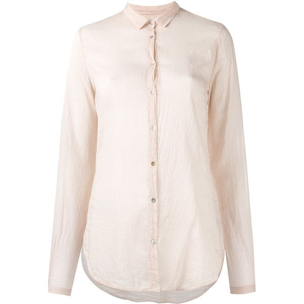 Forte Forte sheer shirt (€175) ❤ liked on Polyvore featuring tops, pink, transparent shirt, transparent top, forte forte, pink shirts and sheer shirt