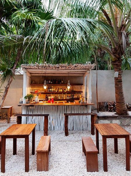 PAR pine is reasonably affordable and strong enough to use for building an outdoor bar as long as it is properly treated  to protect it from the elements. Even an outdoor bar on a patio should have some protection where it will be subjected to constant temperature extremes and changes in ambient humidity.