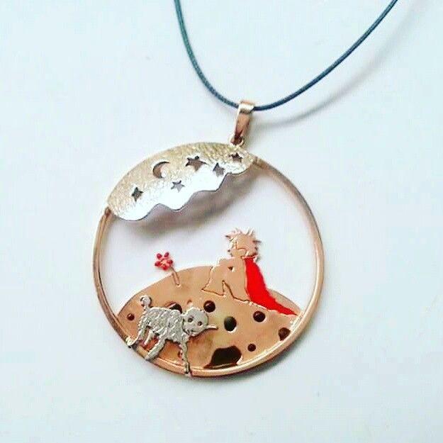 Küçük Prens ve Koyun Gümüş Kolye #küçükprens #littleprince #design #tasarim #gümüş #kolye