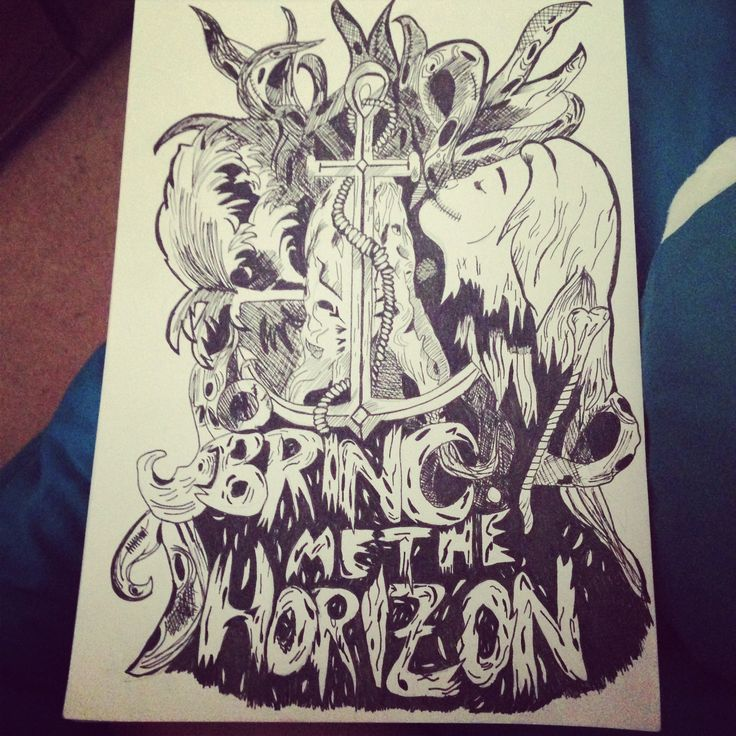 drawing of bring me the horizon artwork bring me the