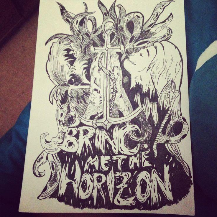 Drawing of Bring me the Horizon artworkBring Me The Horizon Artwork