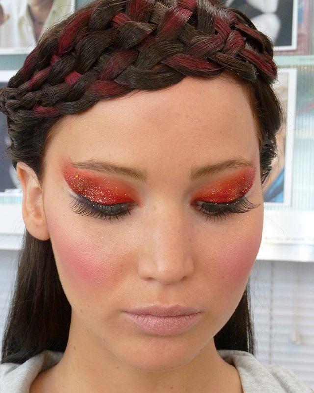 Hunger Games Makeup | Stacie added make-up for different