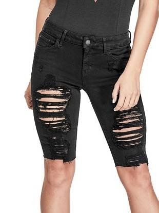 6943445061db Destroyed Denim Bermuda Shorts   shop.GUESS.com   GUESS / The Latest ...