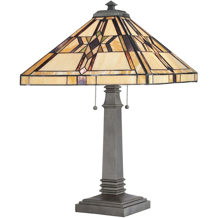 2 Light Finton Tiffany Table Lamp Shown In Vintage Bronze By Quoizel  Lighting   TF961TVB