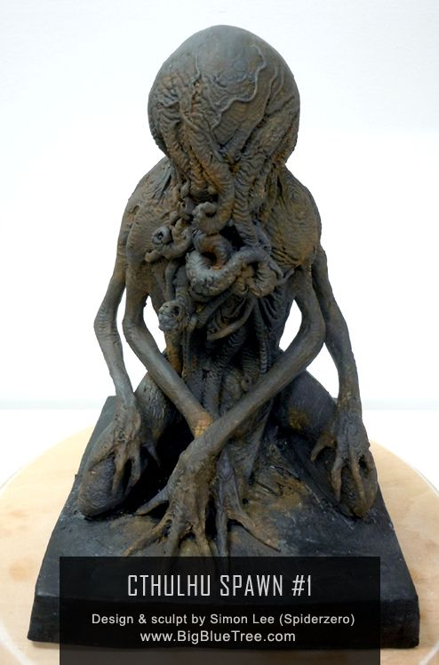 Here is an amazing Cthulhu Spawn by the uber talented sculptor Simon Lee, aka; Spider Zero!
